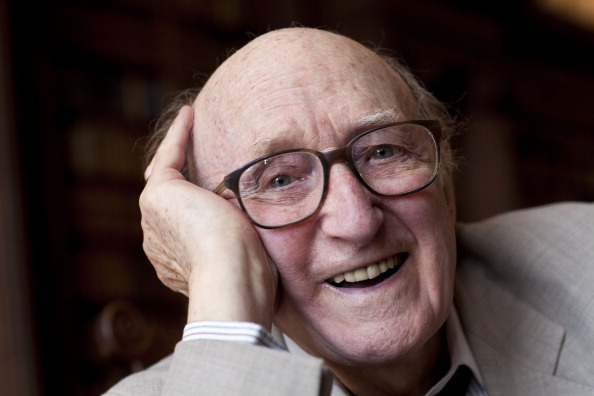 Ron Moody poses for a portrait at the Oxford Literary Festival on April 10, 2011