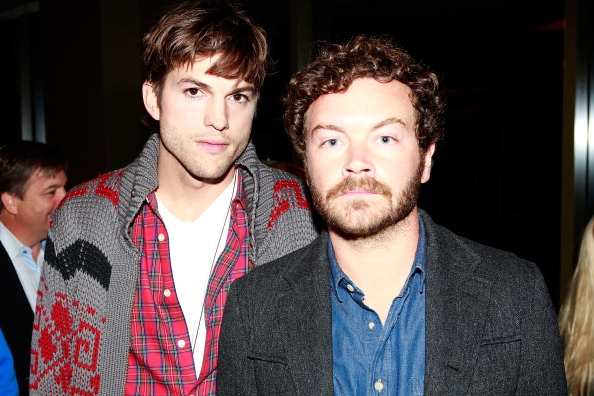 Ashton Kutcher and Danny Masterson at the People: Spring Collection in West Hollywood, Calif. on March 6, 2012.