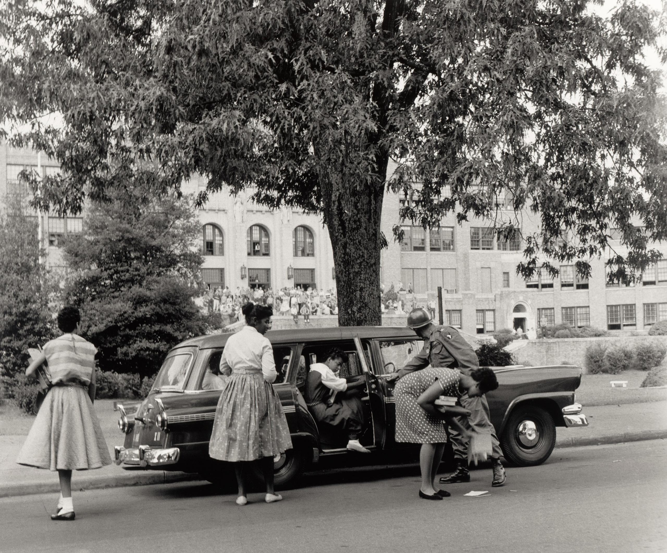 Desegregation of Central High School Little Rock, Arkansas, 1957.