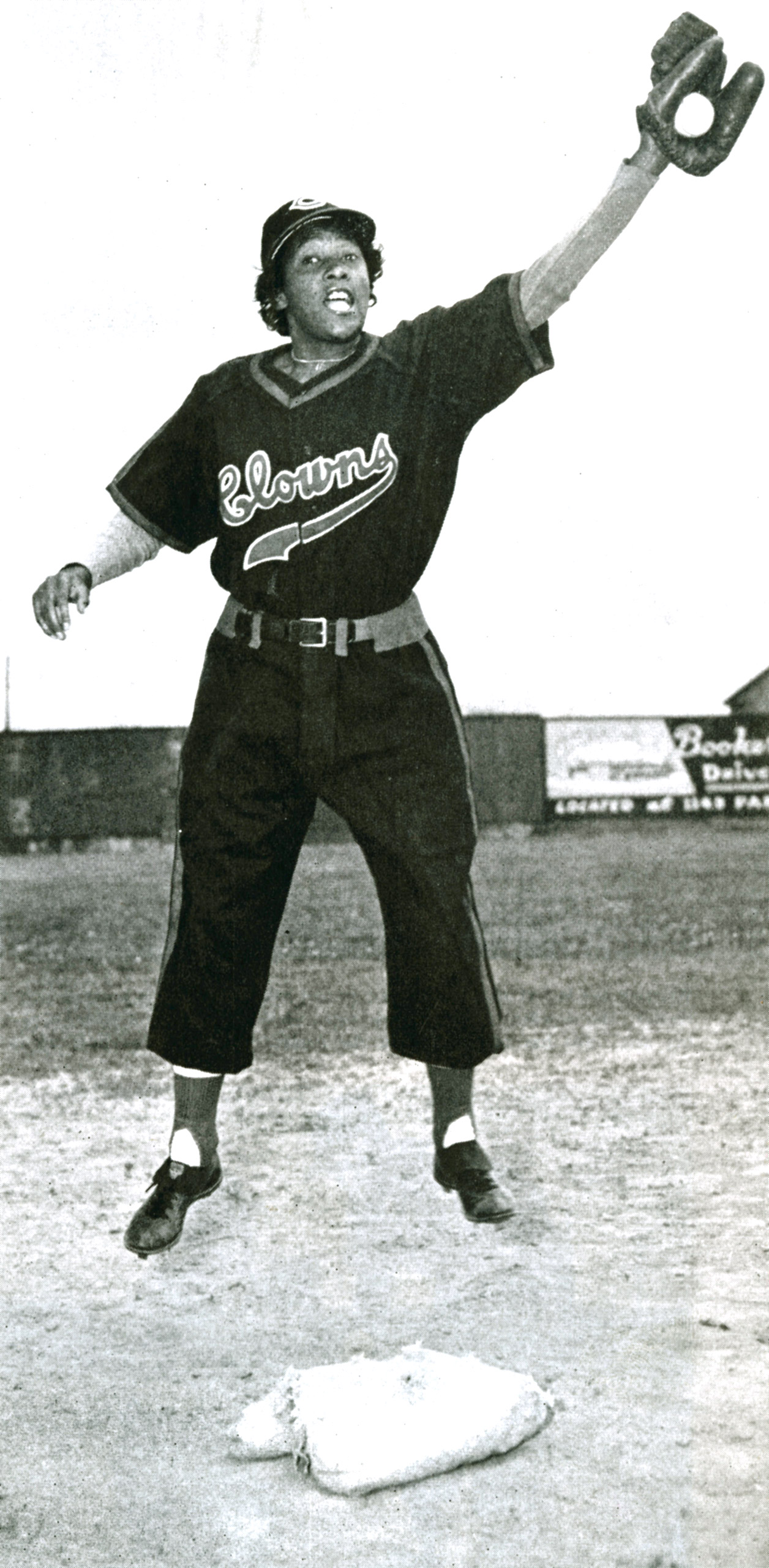 Toni Stone, shortstop for  the Indianapolis Clowns of the National Negro Leagues, works out in a photograph around 1950 in Indianapolis. She was the first woman to play in the otherwise-male Negro Leagues.