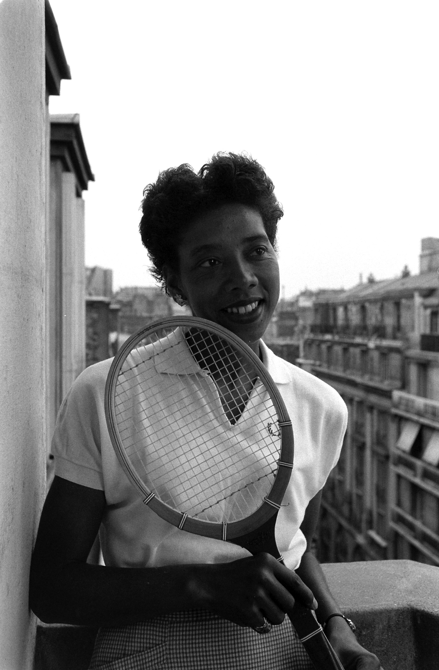 Tennis player Althea Gibson in France, 1956.