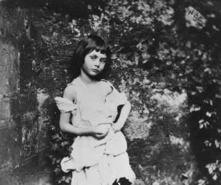 Alice Liddell (1852 - 1934), the inspiration for Lewis Carroll's fictional character Alice in 'Alice in Wonderland'. She is posing as 'The Beggar-Maid.' 1858.