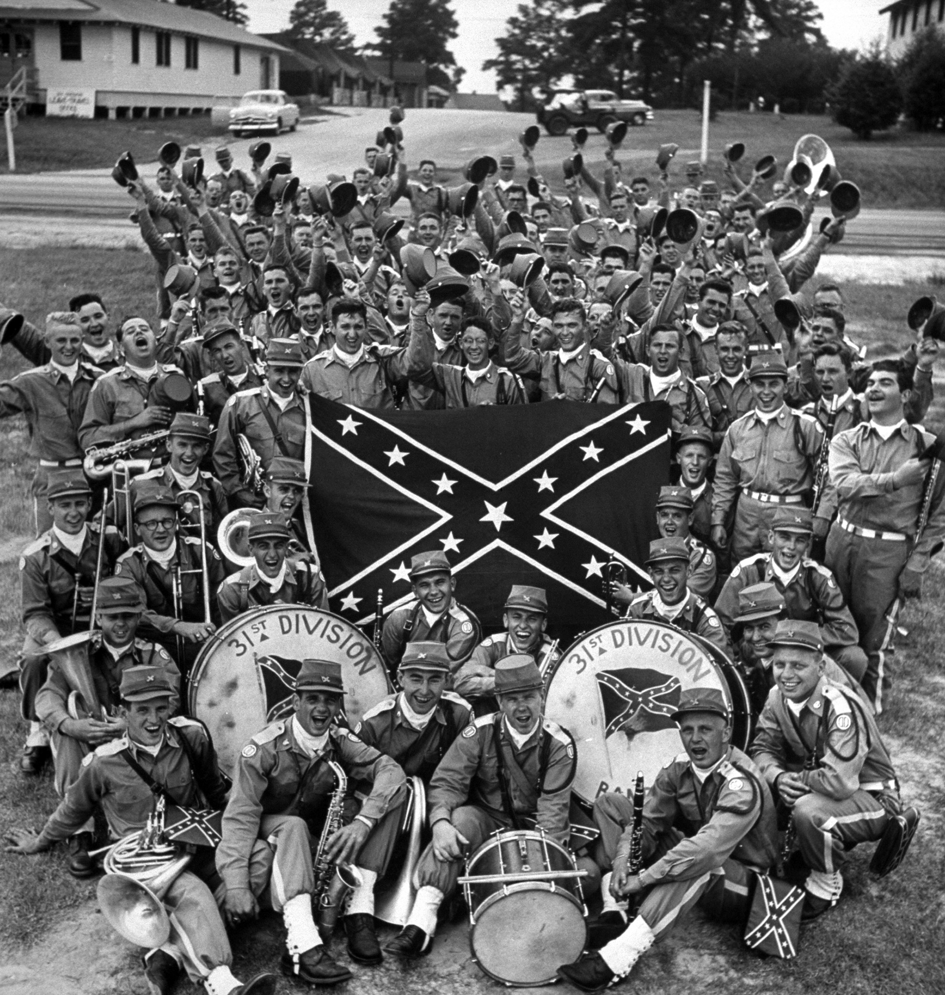 31st Division Band displaying the Confederate flag.