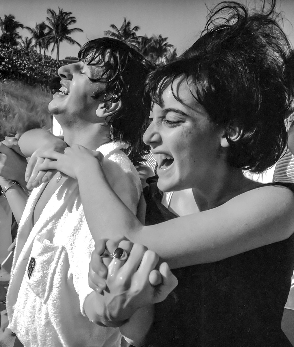 Ringo gets a hug by the pool, Miami, Florida, February 1964.