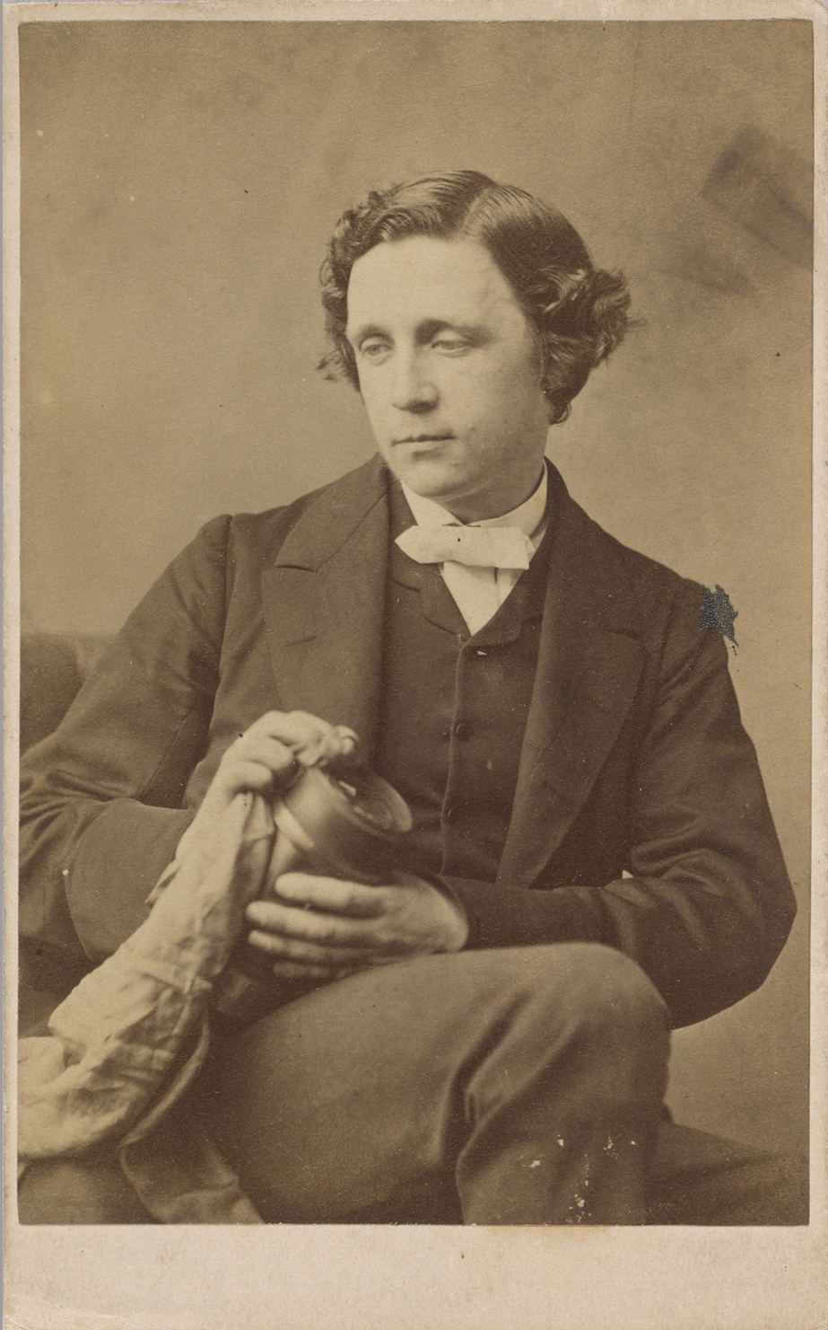 Photograph of Lewis Carroll, 1863.