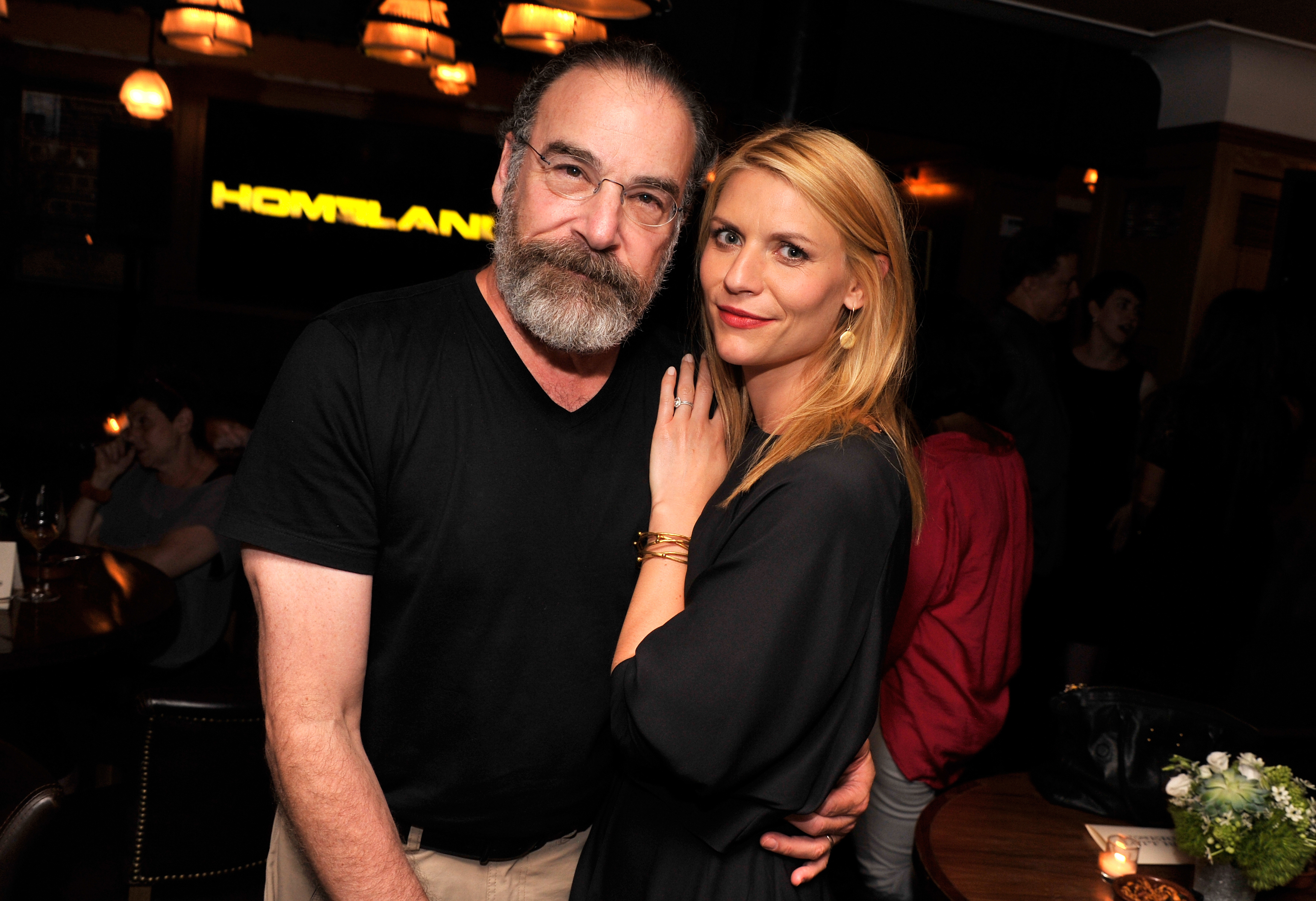 Actors Mandy Patinkin and Claire Danes attend a Private Reception And Screening Of Homeland Season 4 on September 4, 2014 in New York City.