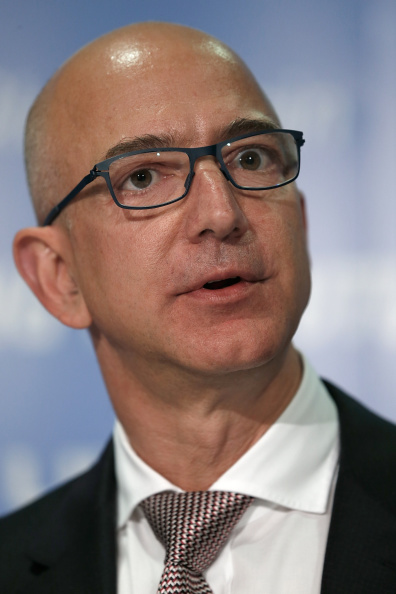 Jeff Bezos at a press conference in Washington on Sept. 17, 2014.