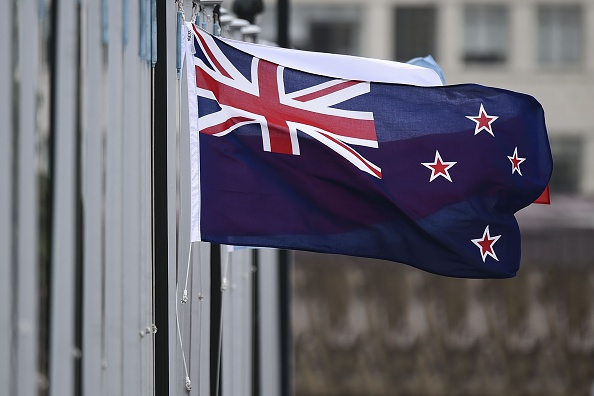 The New Zealand flag flutters outside Parliament buildings in Wellington in Wellington on October 29, 2014
