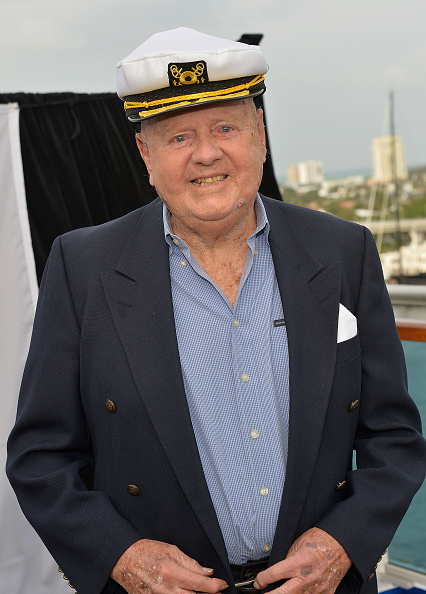 Dick Van Patten at Love Boat Cast Christening Of Regal Princess Cruise Ship at Port Everglades in Fort Lauderdale, Fla. on Nov. 5, 2014.