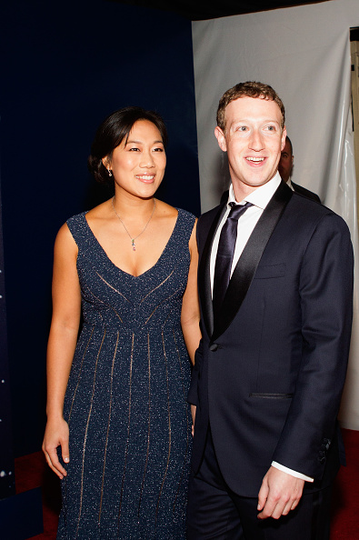 Priscilla Chan and Mark Zuckerberg attend the Breakthrough Prize Awards Ceremony in Mountain View, Calif. on Nov. 9, 2014.