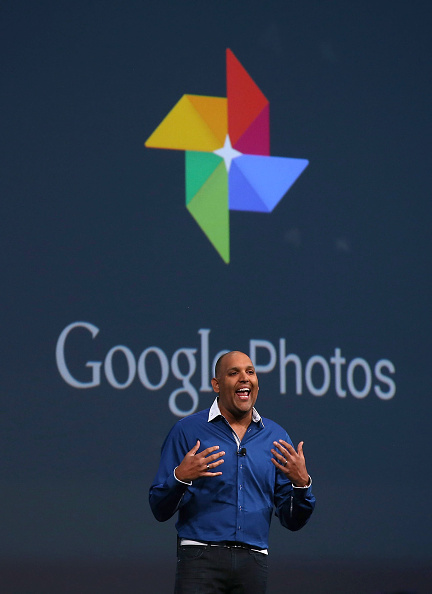 SAN FRANCISCO, CA - MAY 28:  Google Photos director Anil Sabharwal announces Google Photos during the 2015 Google I/O conference on May 28, 2015 in San Francisco, California. The annual Google I/O conference runs through May 29.  (Photo by Justin Sullivan/Getty Images)