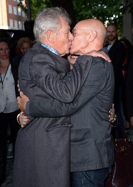 Ian McKellen and Patrick Stewart attend the U.K. premiere of Mr Holmes at ODEON Kensington in London on June 10, 2015