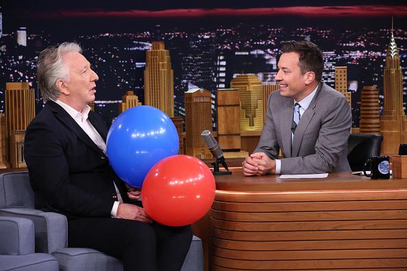 Alan Rickman on 'The Tonight Show Starring Jimmy Fallon' on June 17, 2015.