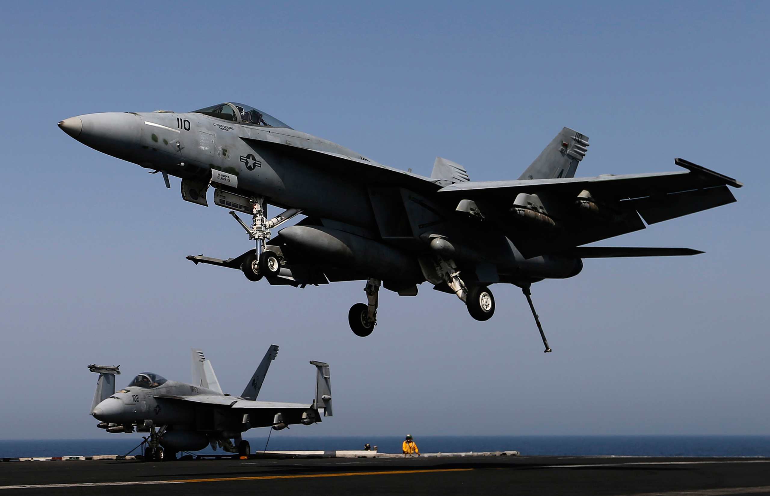 Planes have been taking off from the USS George H.W. Bush (CVN77) to strike key positions taken over by the Islamic State fighters in Iraq, August 12, 2014.
