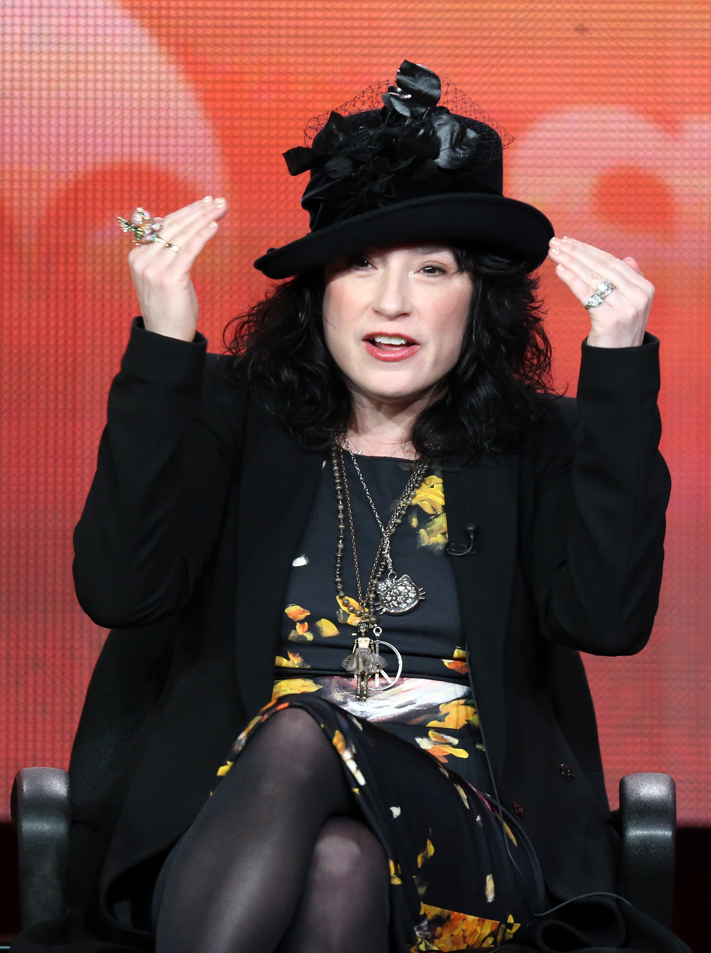 Amy Sherman-Palladino speaks onstage during the ABC portion of the 2013 Winter TCA Tour at Langham Hotel on January 10, 2013 in Pasadena, Calif.