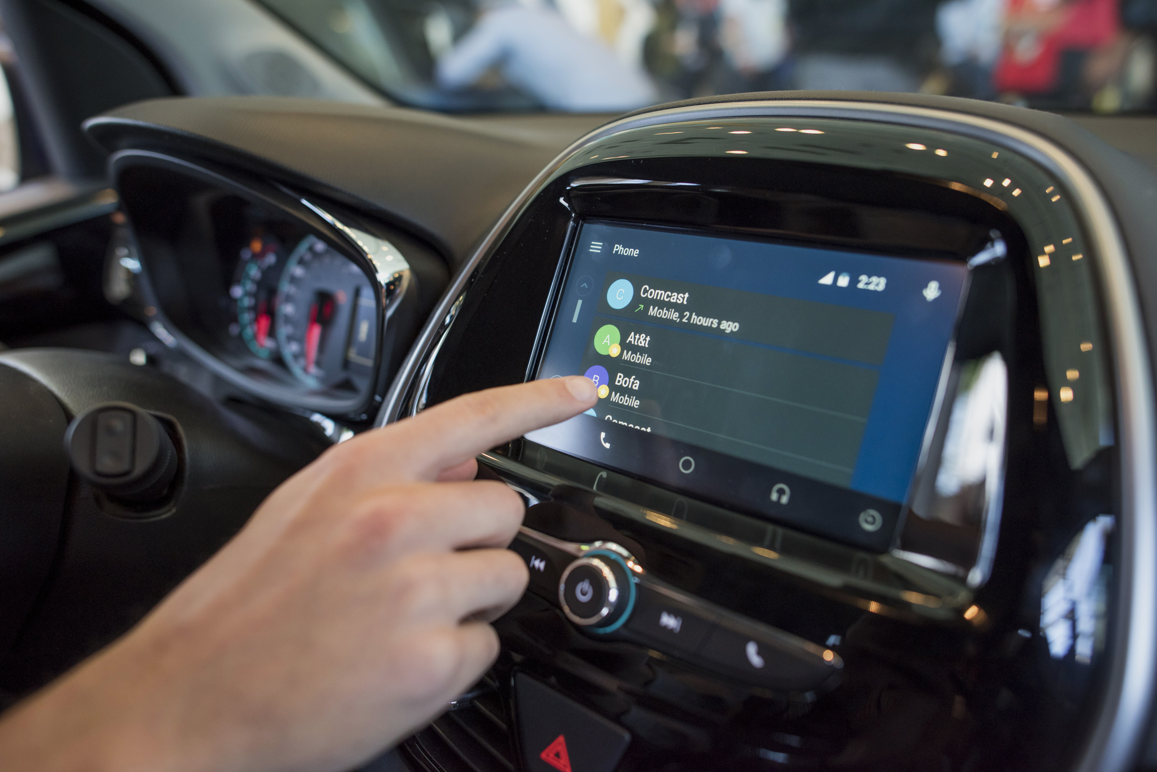 Google showed off Android Auto, a car interface connected to Android phones that helps you stay focused while driving — there are voice controls, integrated wheel controls and directions, among other features. The Hyundai Sonata will be the first car to arrive with Android Auto.