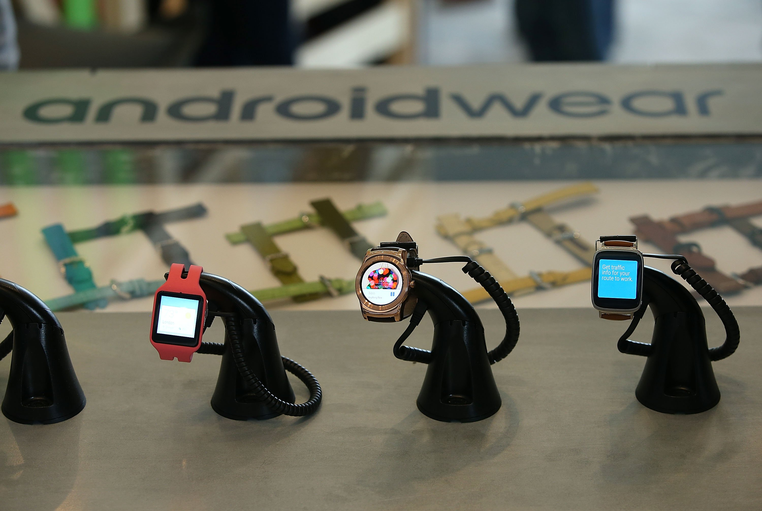 Google said during its I/O conference there are now seven Android Wear smart watches available. New features unveiled include new wrist gestures and a low-power black and white mode.