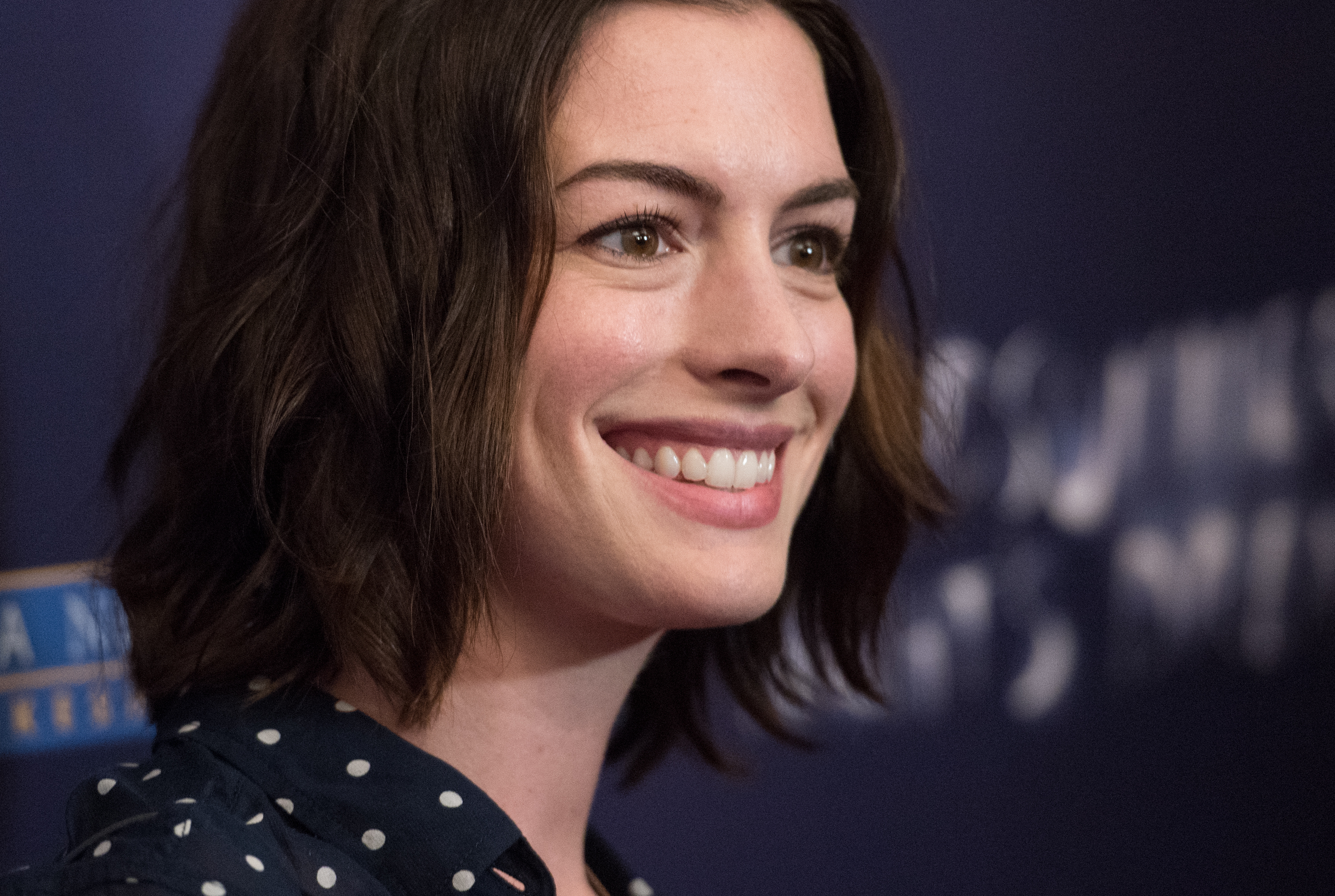 Actress Anne Hathaway attends 'A Midsummer Night's Dream  New York premiere at DGA Theater on June 15, 2015 in New York City.