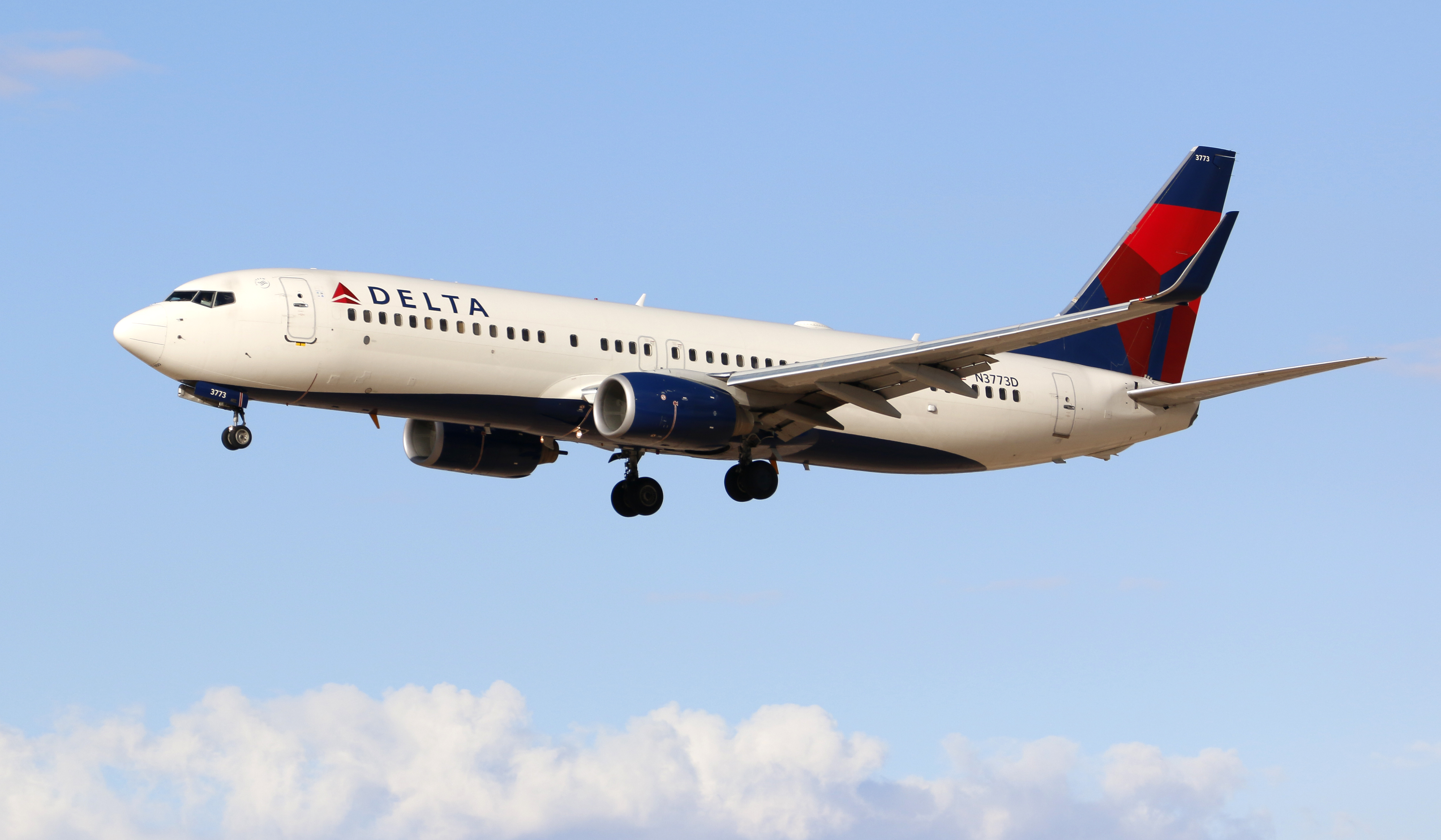 A Delta Airlines Boeing 737 on March 3, 2015.