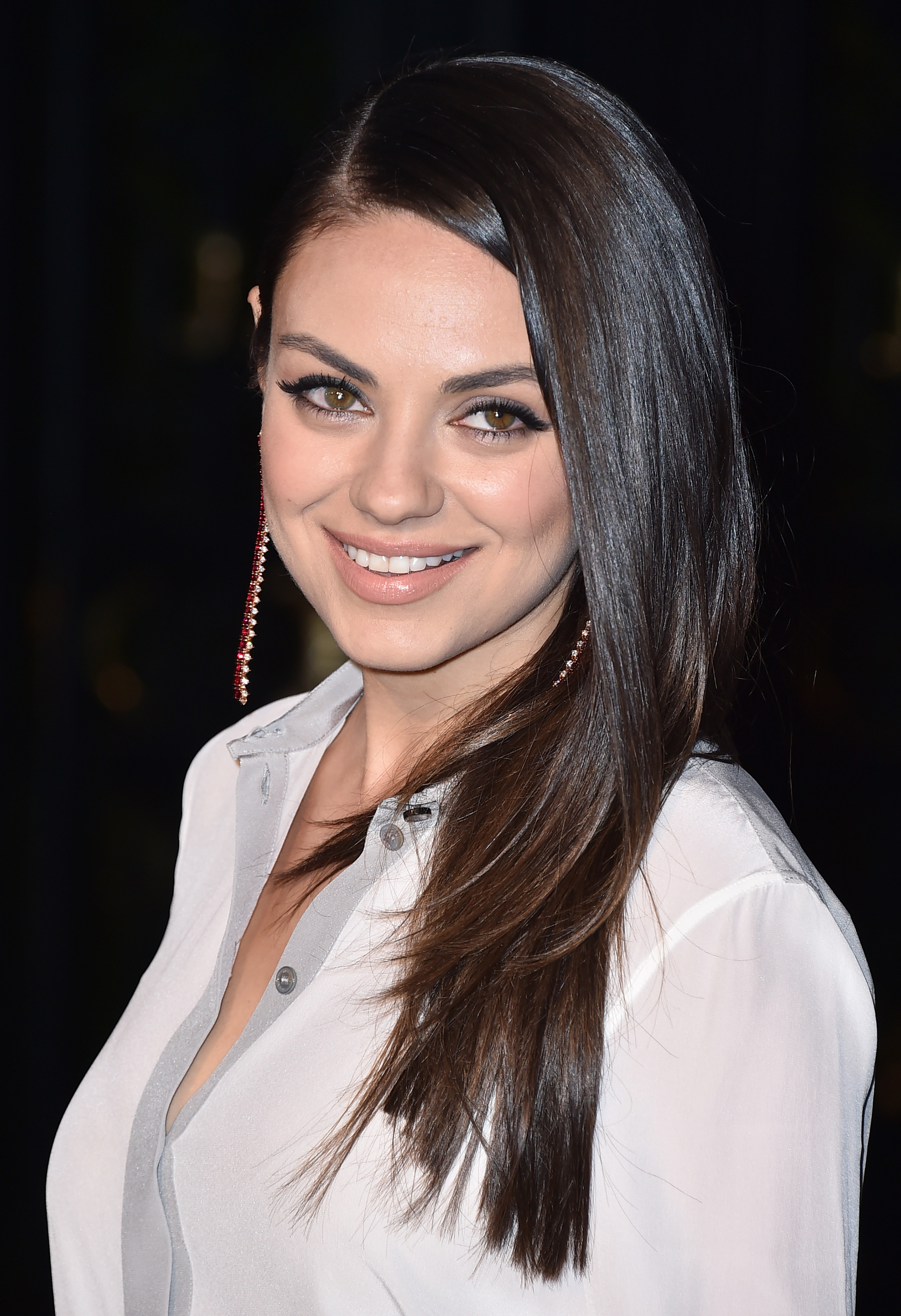 Mila Kunis attends Burberry's  London in Los Angeles  event on April 16, 2015.