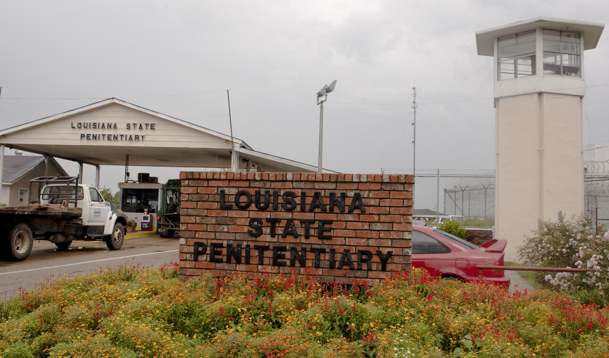 A view of the front entrance of the Louisiana State Penitentiary in Angola, La. Albert Woodfox, the last of three high-profile Louisiana prisoners known as the  Angola Three,  could walk free within days after a federal judge ordered state officials to release him immediately.