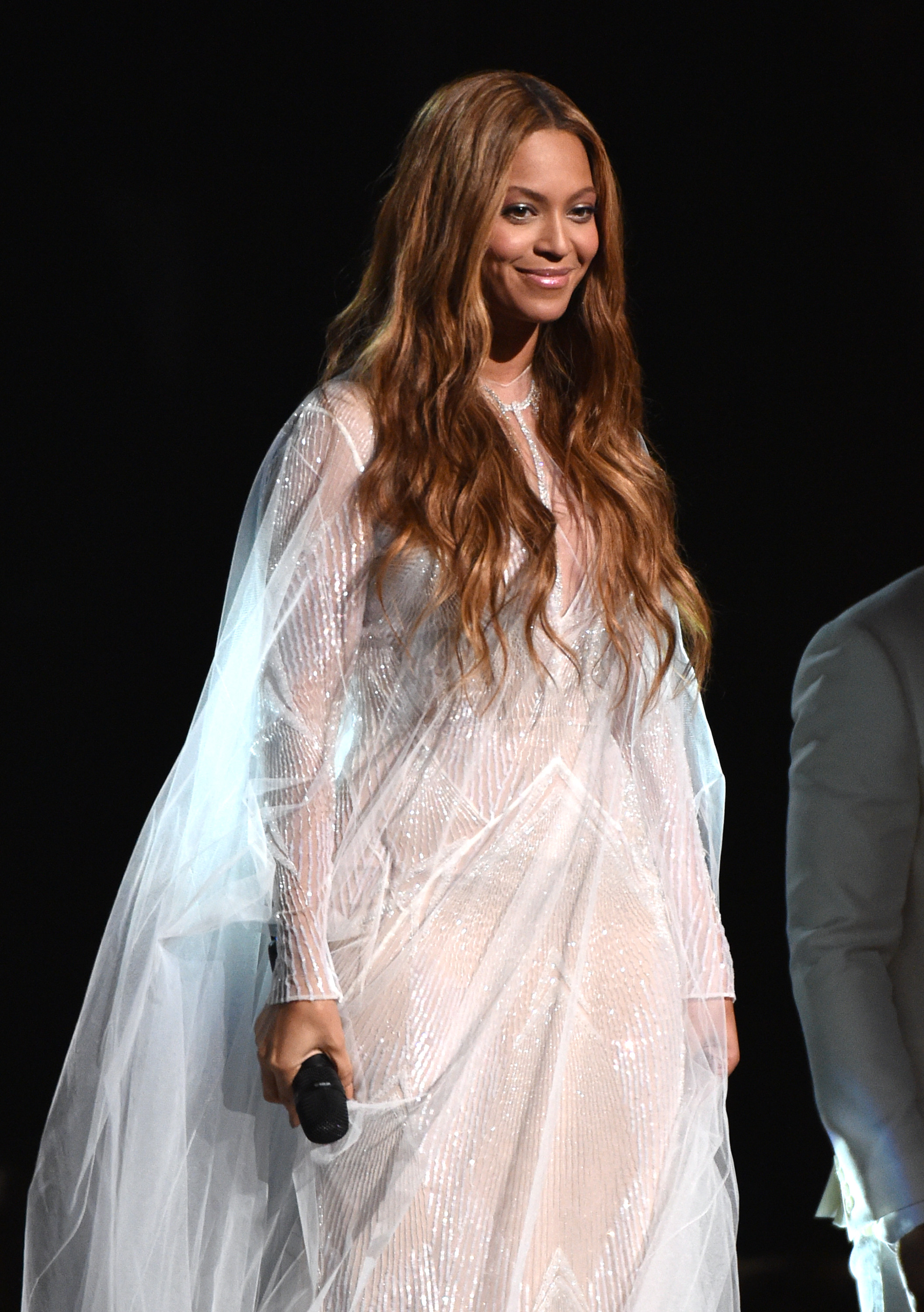 Beyonce performs at the 57th annual Grammy Awards in Los Angeles on Feb. 8, 2015.