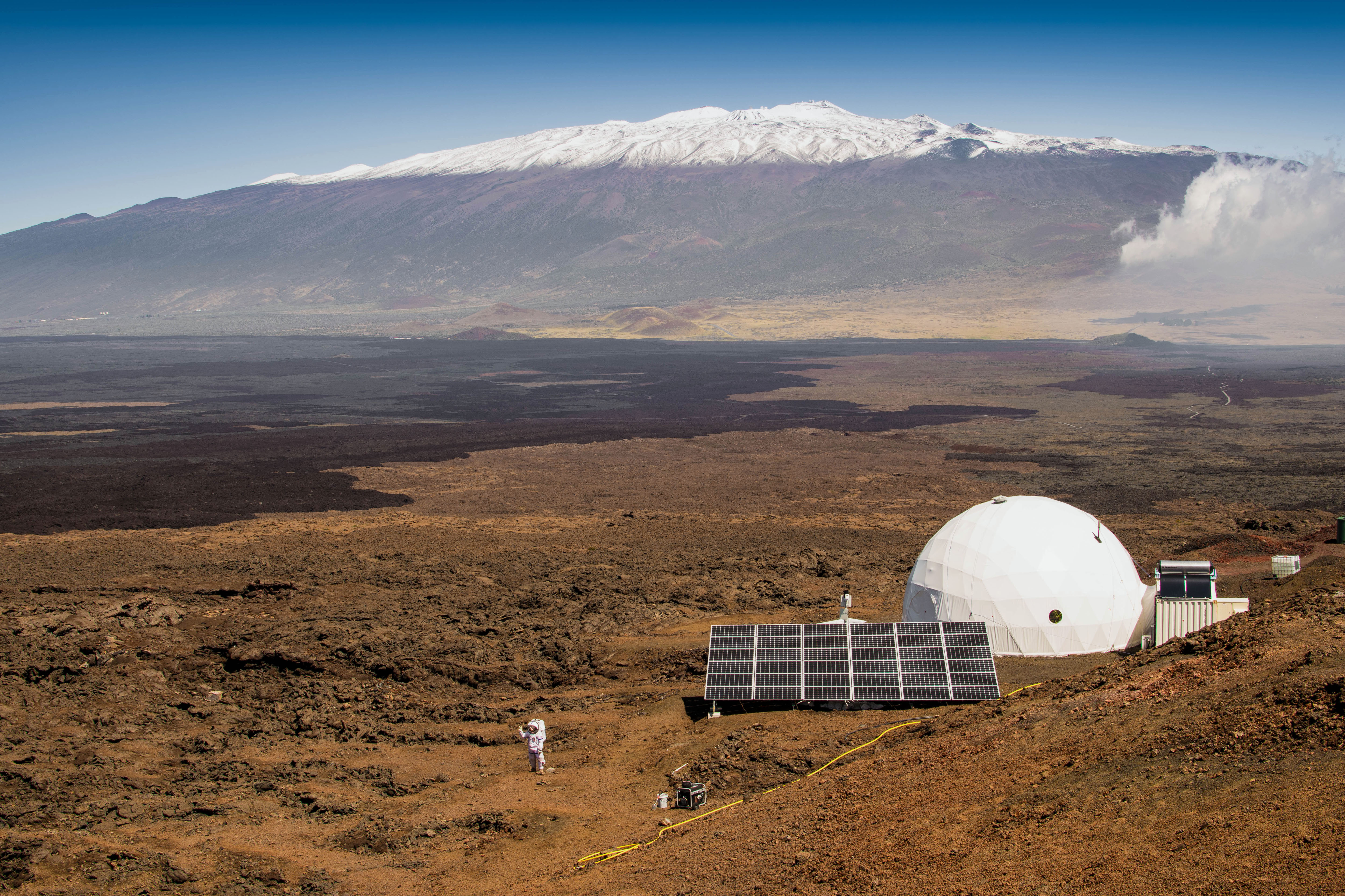 The dome where six scientists lived an isolated existence to simulate life on a mission to Mars, on the bleak slopes of dormant volcano Mauna Loa near Hilo on the Big Island of Hawaii.
