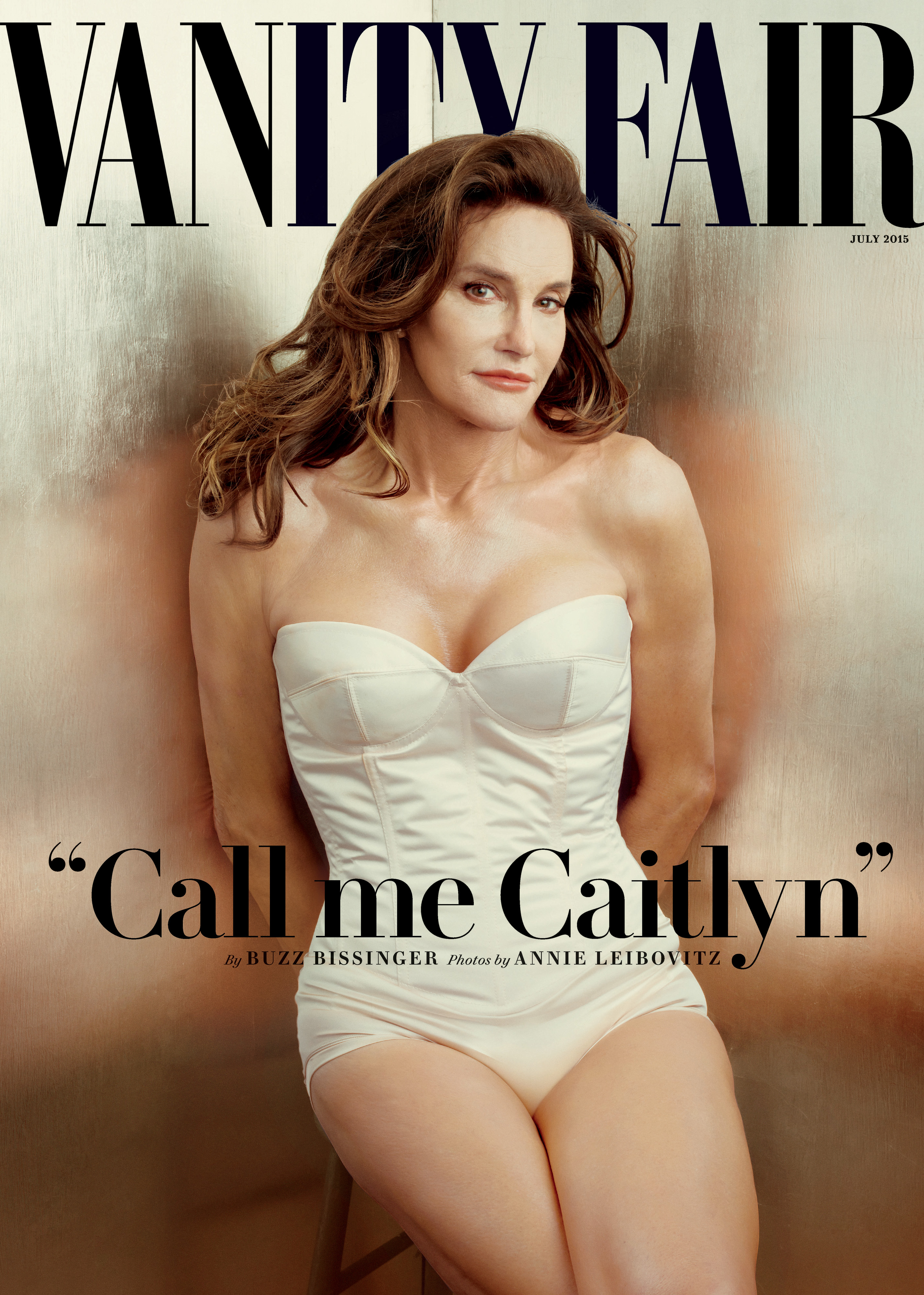 Caitlyn Jenner on the cover of Vanity Fair's July 2015 issue.