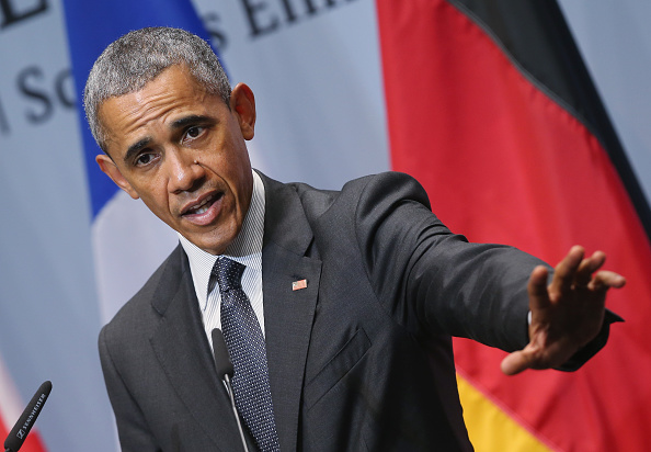 U.S. President Barack Obama speaks to the media at the conclusion of the summit of G7 nations at Schloss Elmau on June 8, 2015 near Garmisch-Partenkirchen, Germany.