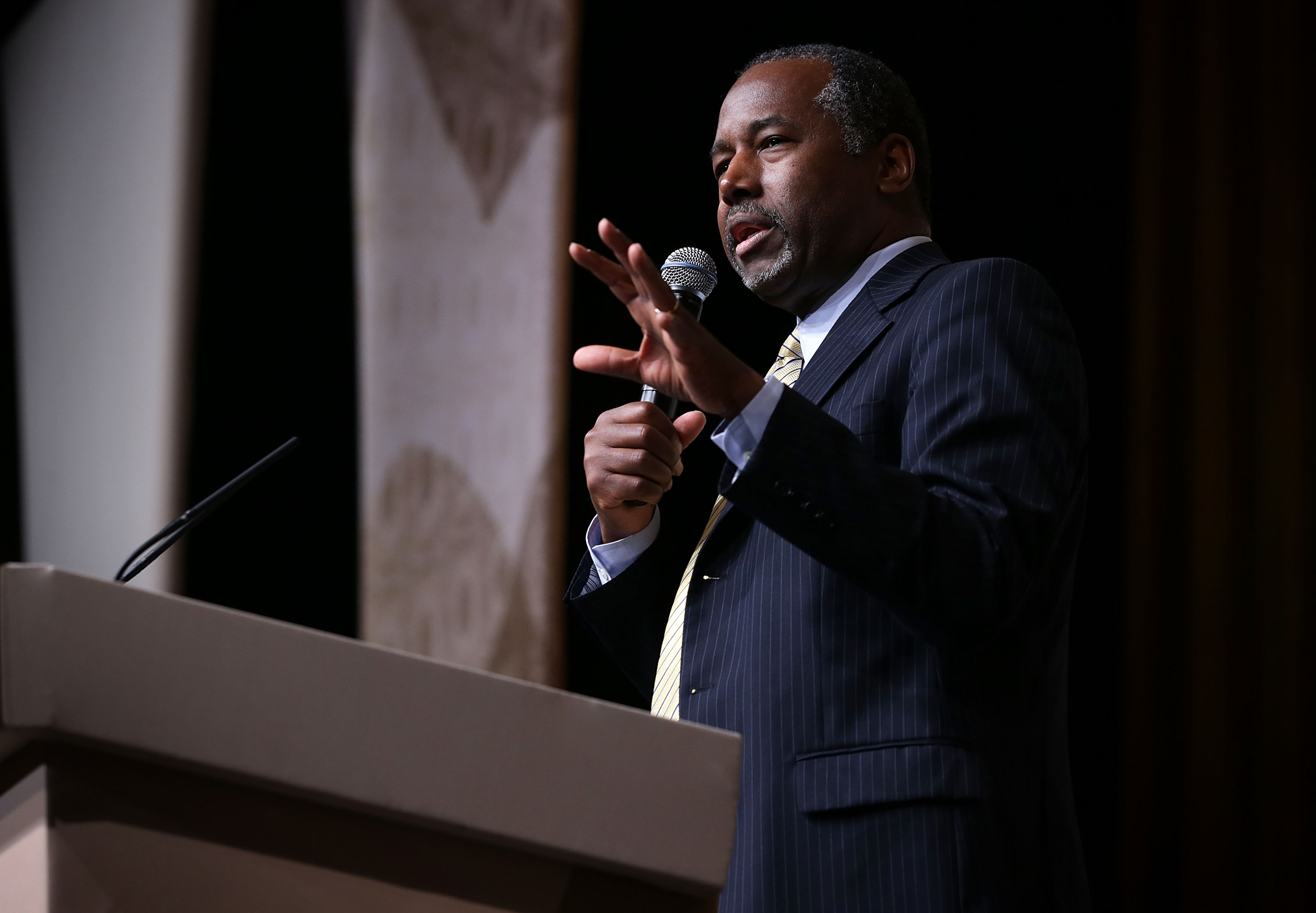 Republican U.S. presidential hopeful Ben Carson speaks during the  Road to Majority  conference June 19, 2015 in Washington, DC.