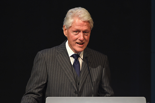 Former president Bill Clinton attends the Forbes' 2015 Philanthropy Summit Awards Dinner on June 3, 2015 in New York City.