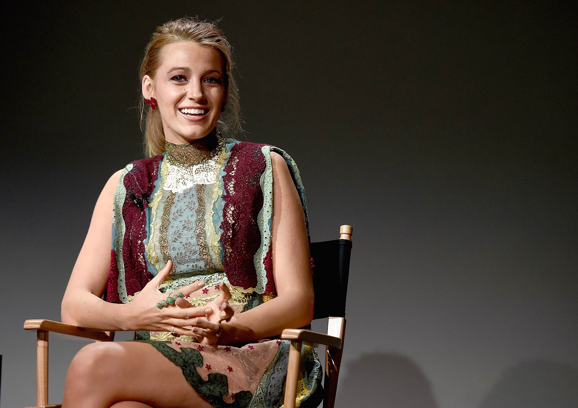 Blake Lively attends the Apple Store Soho Presents Meet The Filmmaker: Blake Lively, Age of Adaline on April 22, 2015 in New York City.
