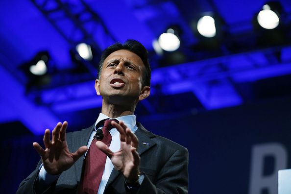 Louisiana Governor Bobby Jindal and possible Republican presidential candidate speaks during the Rick Scott's Economic Growth Summit held at the Disney's Yacht and Beach Club Convention Center on June 2, 2015 in Orlando, Florida.