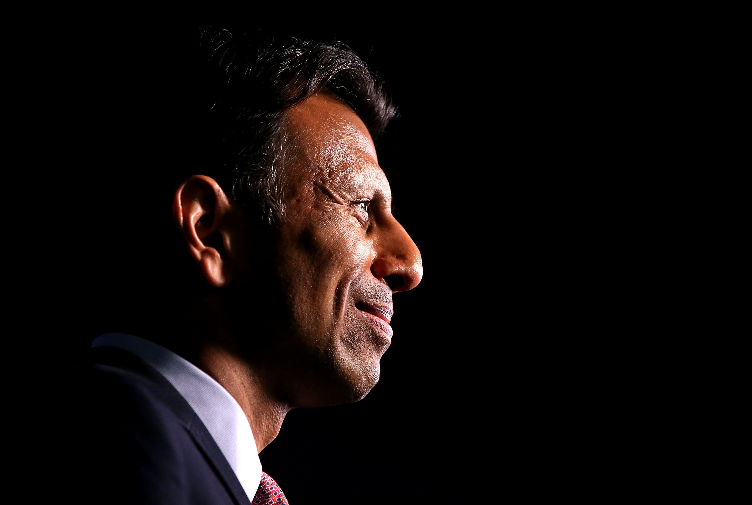 Louisiana Governor Bobby Jindal announces his candidacy for the 2016 Presidential nomination during a rally on June 24, 2015 in Kenner, Louisiana.
