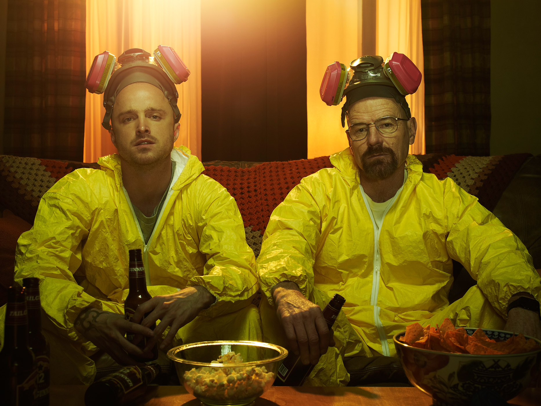 Jesse Pinkman (Aaron Paul) and Walter White (Bryan Cranston) on Breaking Bad