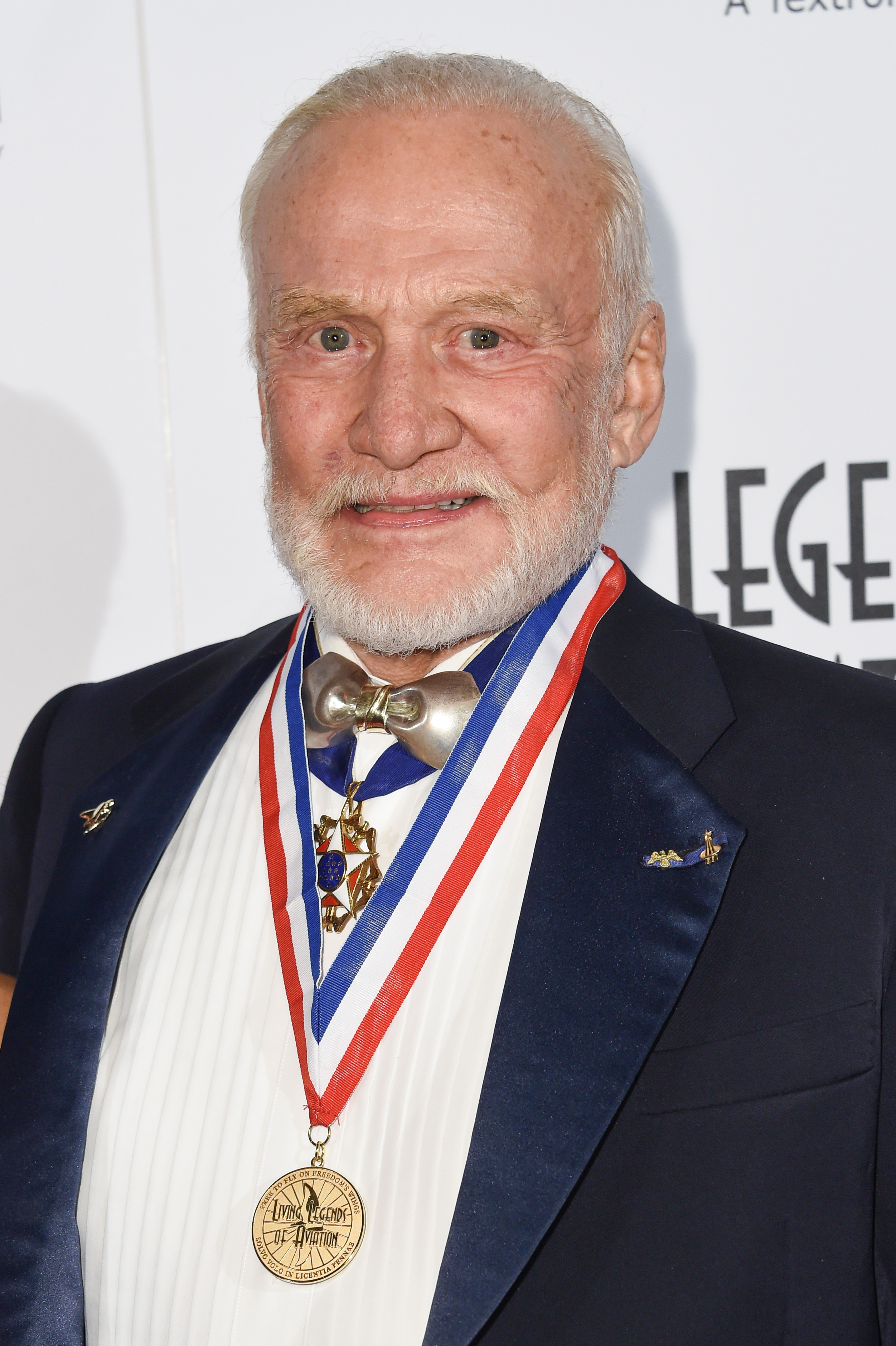 Buzz Aldrin attends the 12th Annual Living Legends of Aviation Awards at The Beverly Hilton Hotel in Los Angeles on Friday, Jan 16, 2015.