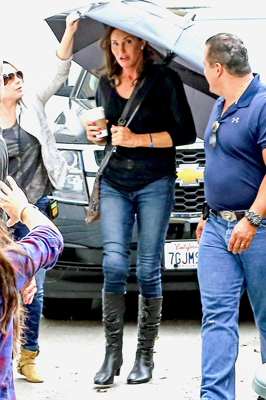 Caitlyn Jenner is seen filming her eight-part docuseries, I Am Cait, at the LGBT (Lesbian, Gay, Bi-sexual, Transgender) center in Hollywood, Calif. on June 9, 2015.|