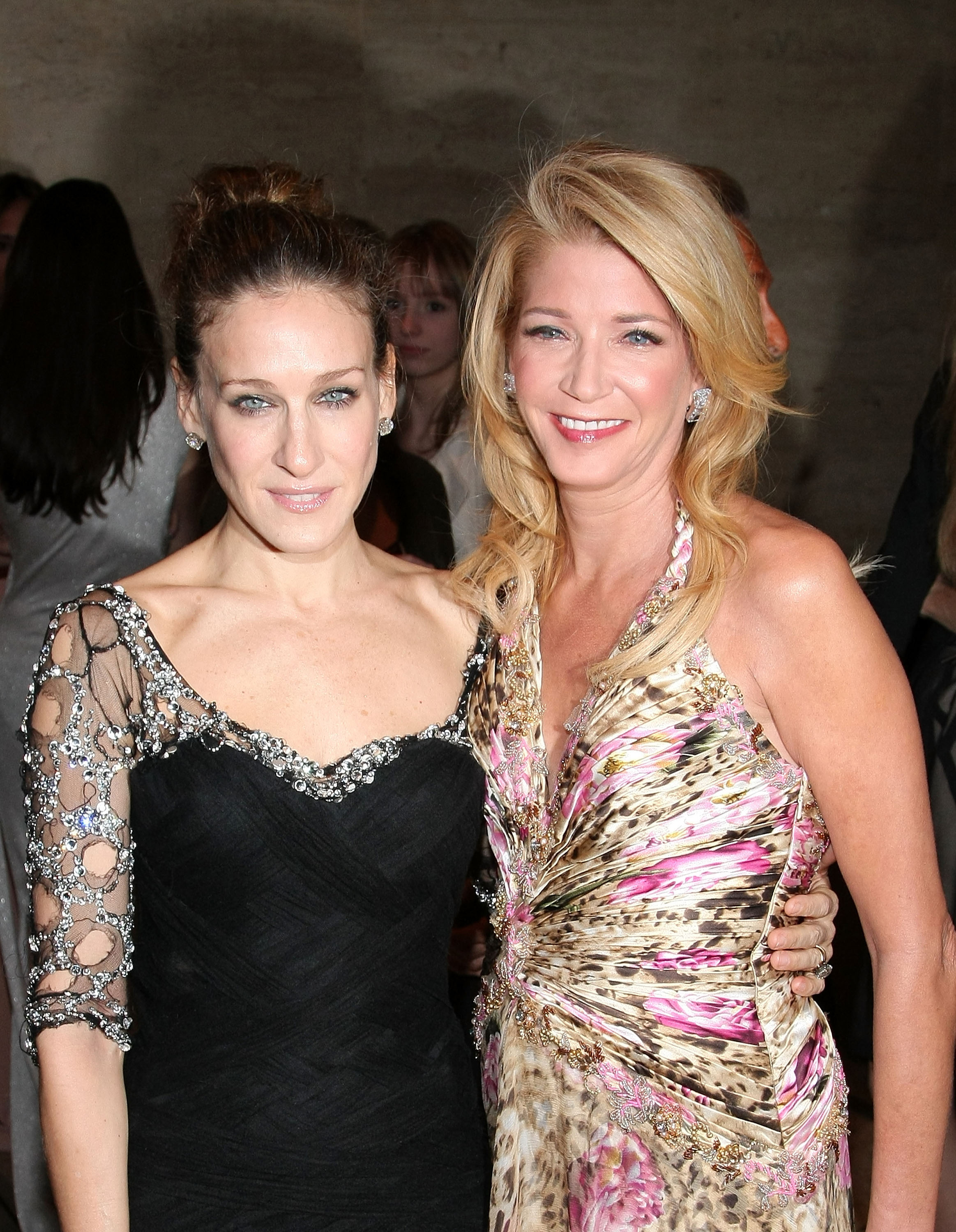 Actress Sarah Jessica Parker and writer Candace Bushnell attend the opening night celebration of the New York City Ballet at David H. Koch Theater, Lincoln Center on November 25, 2008 in New York City.