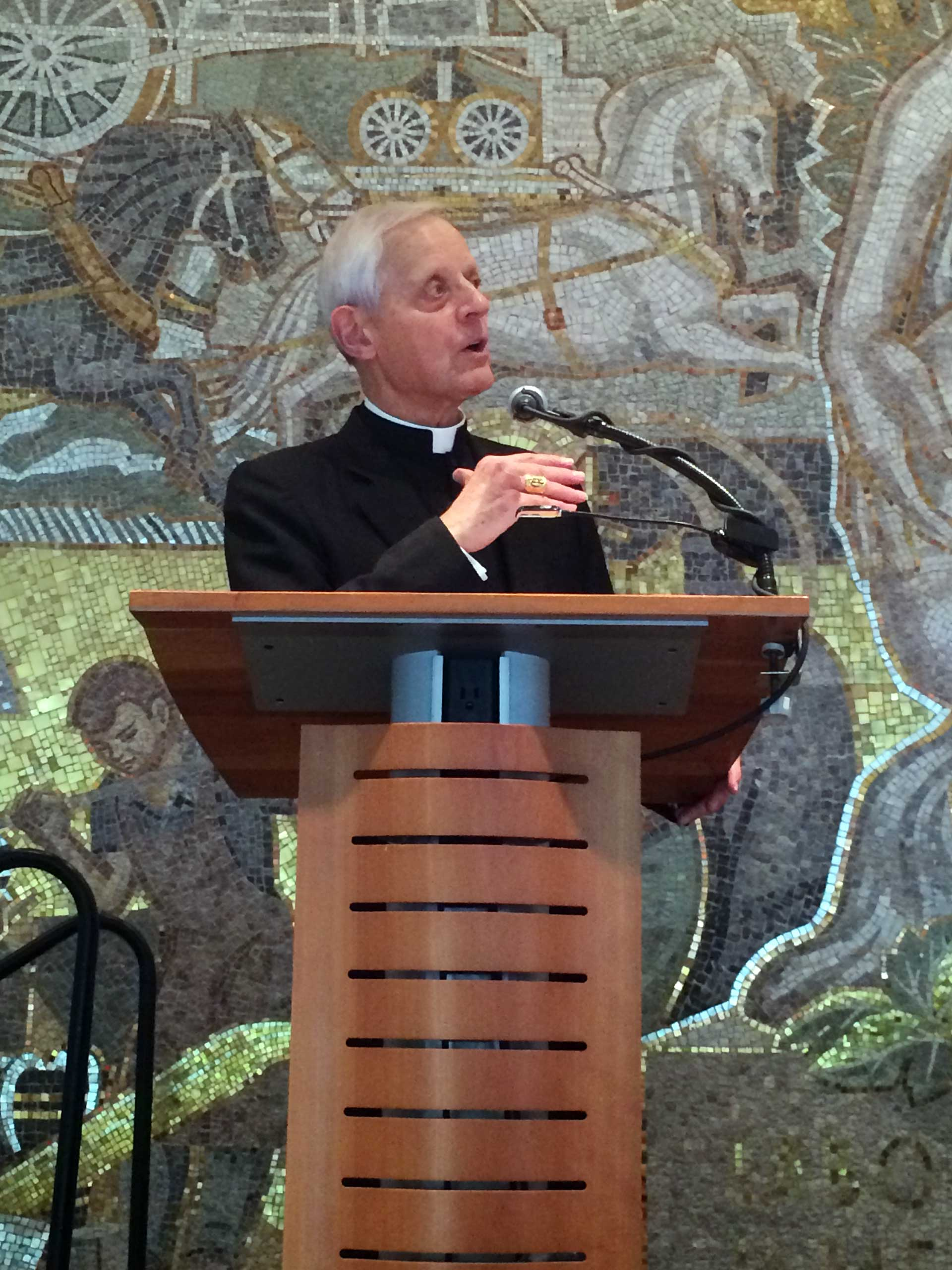 Cardinal Donald Wuerl speaks at an AFL-CIO event in Washington on June 15, 2015.