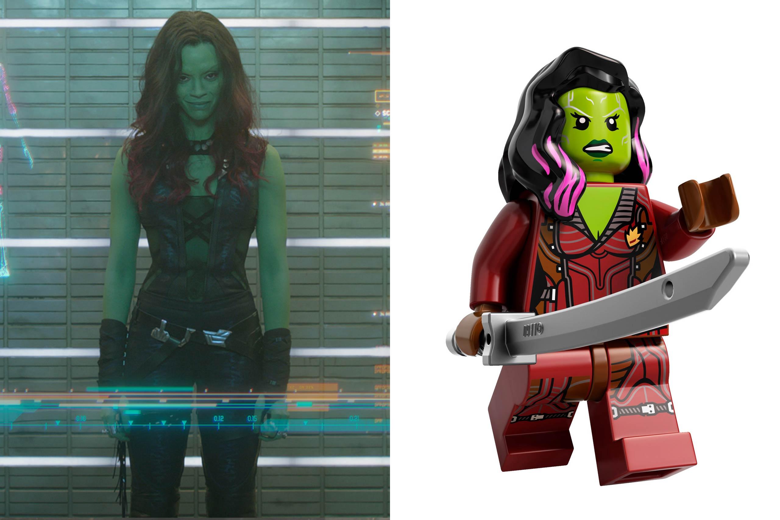 <strong>Zoe Saldana: Gamora</strong>