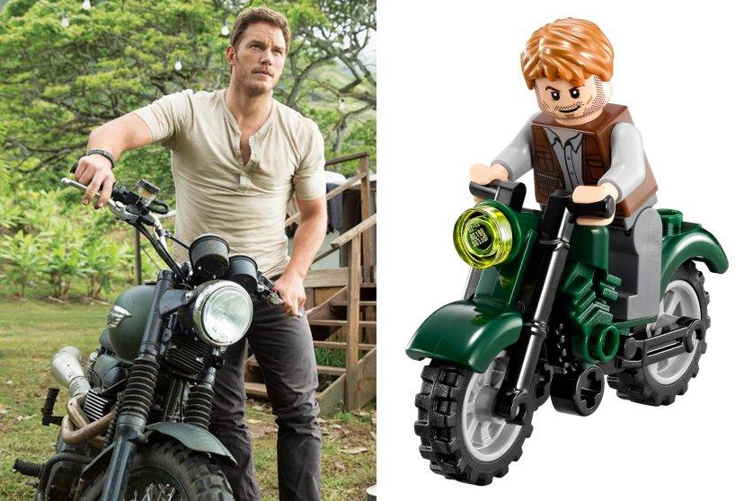 celebrities, lego, jurassic world, avengers, marvel, chris pratt, chris evans, robert downey jr., scarlett johansson