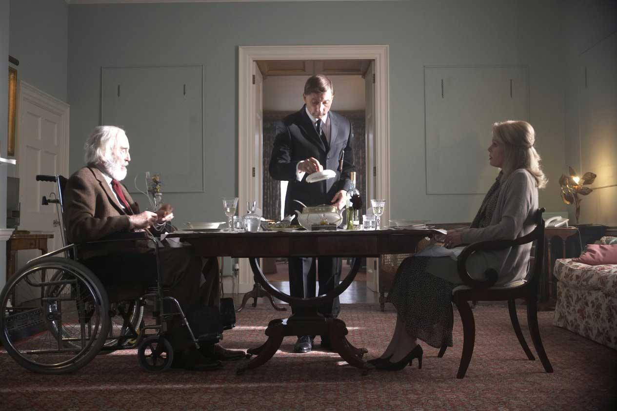 Christopher Lee and Charlotte Rampling in Boogie Woogie (2009).