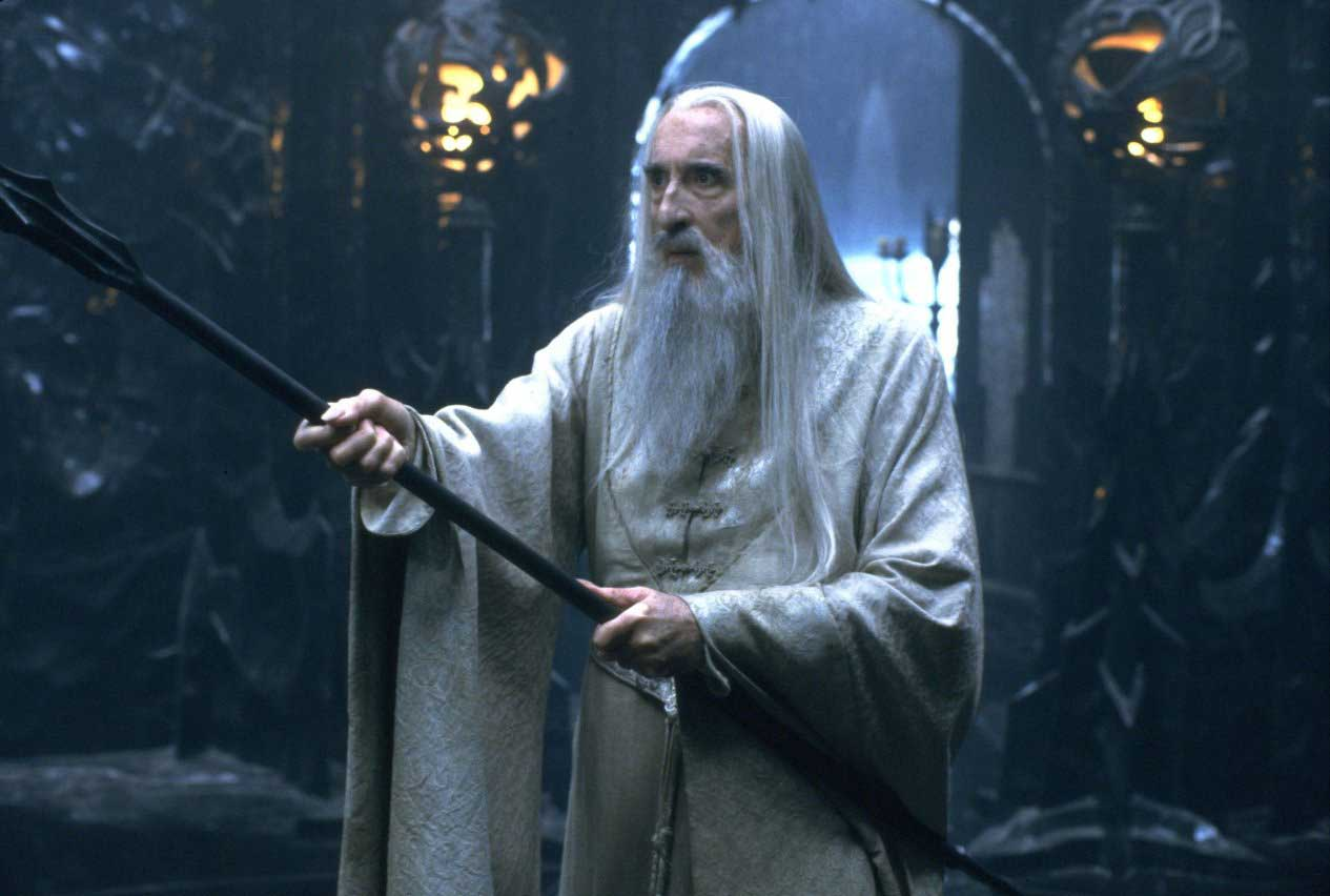 Christopher Lee in The Lord of the Rings- The Two Towers (2002).