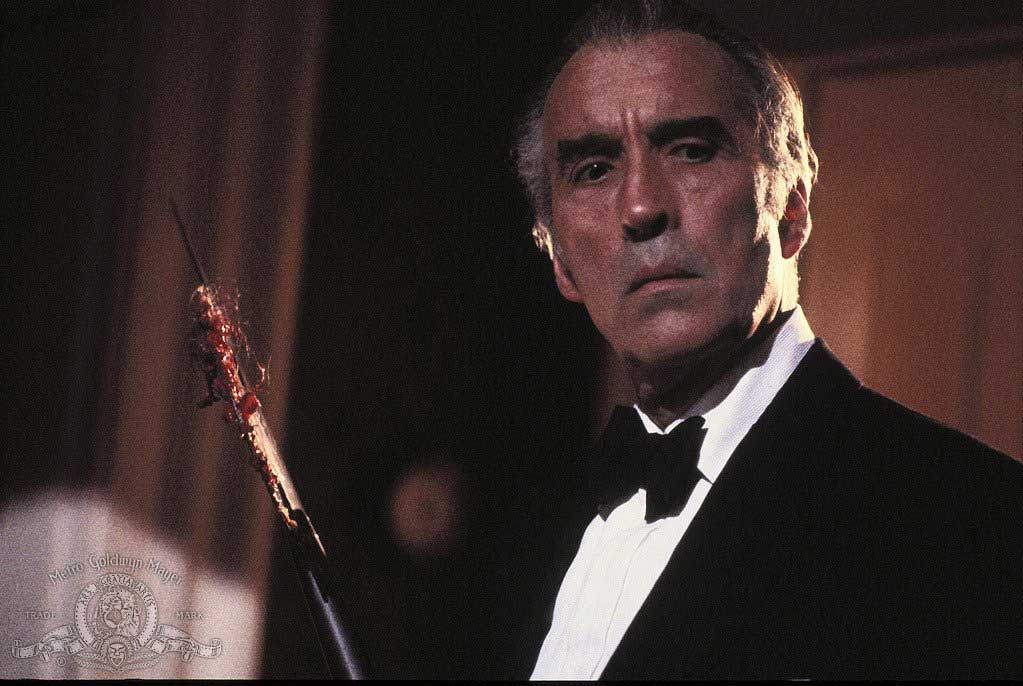 Christopher Lee in House of the Long Shadows (1983).