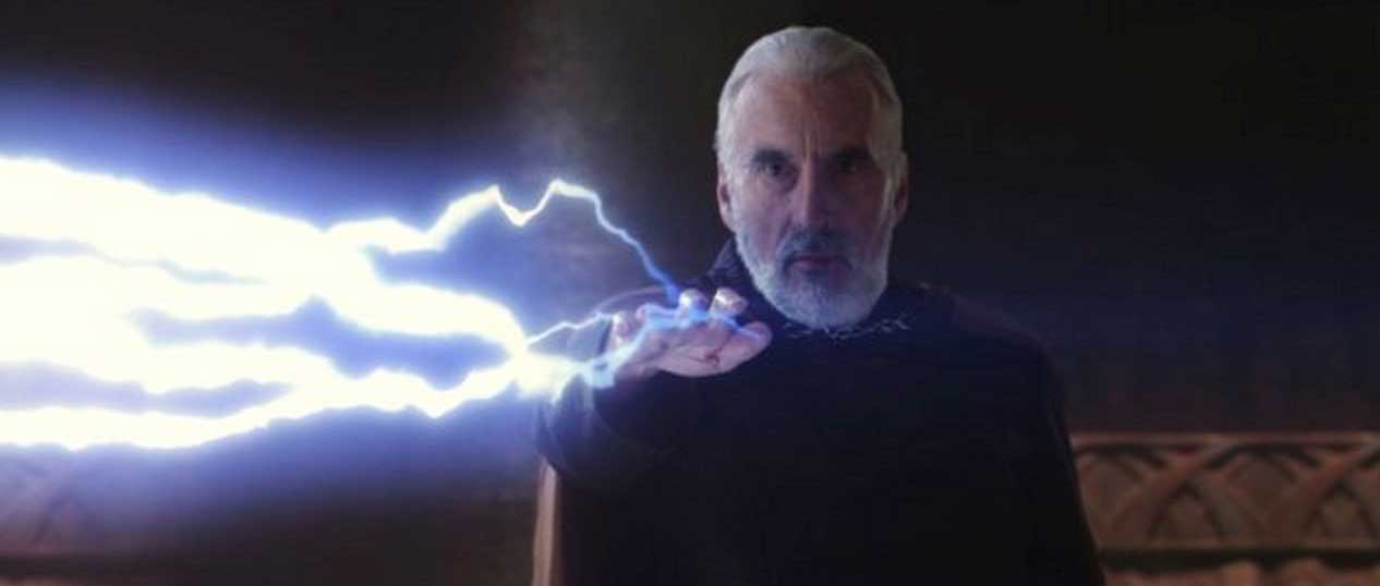 Christopher Lee in Star Wars- Episode II - Attack of the Clones (2002).