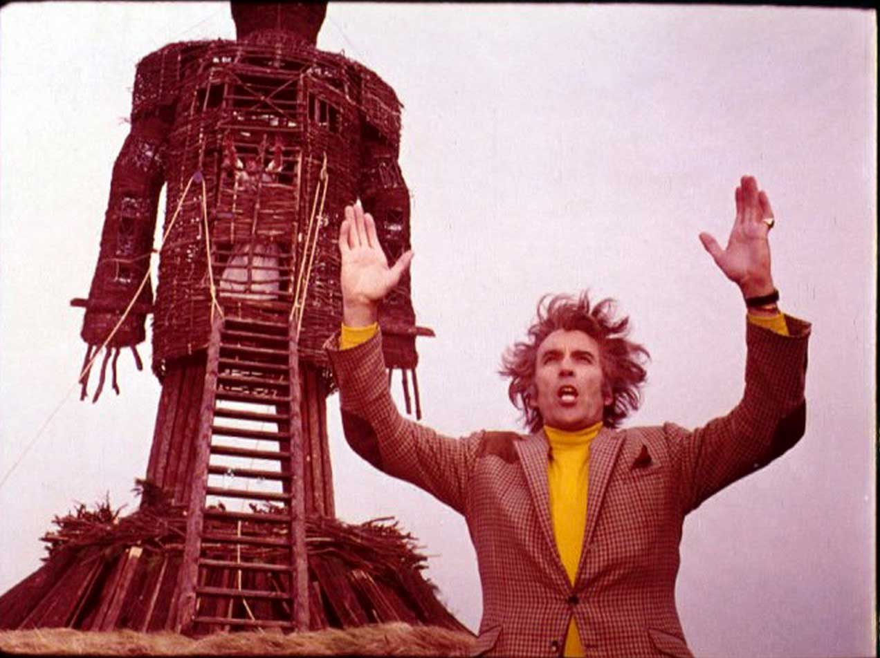 Christopher Lee in The Wicker Man (1973).