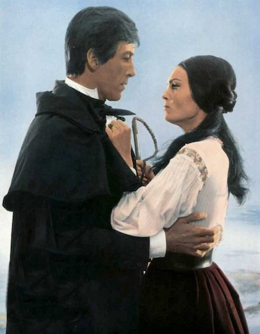Christopher Lee and Daliah Lavi in The Whip and the Body (1963).
