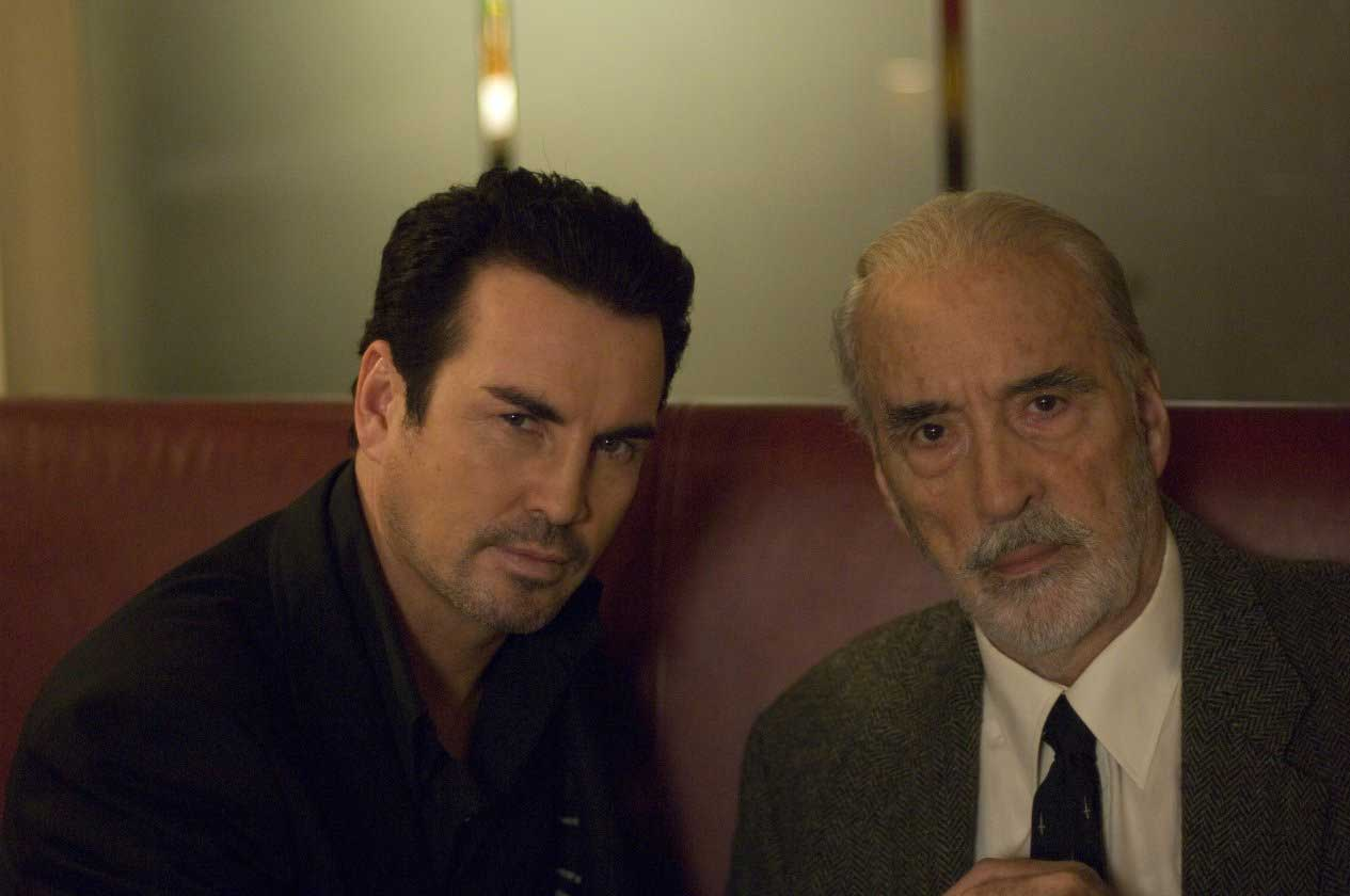 Christopher Lee and Gary Stretch in The Heavy (2010).