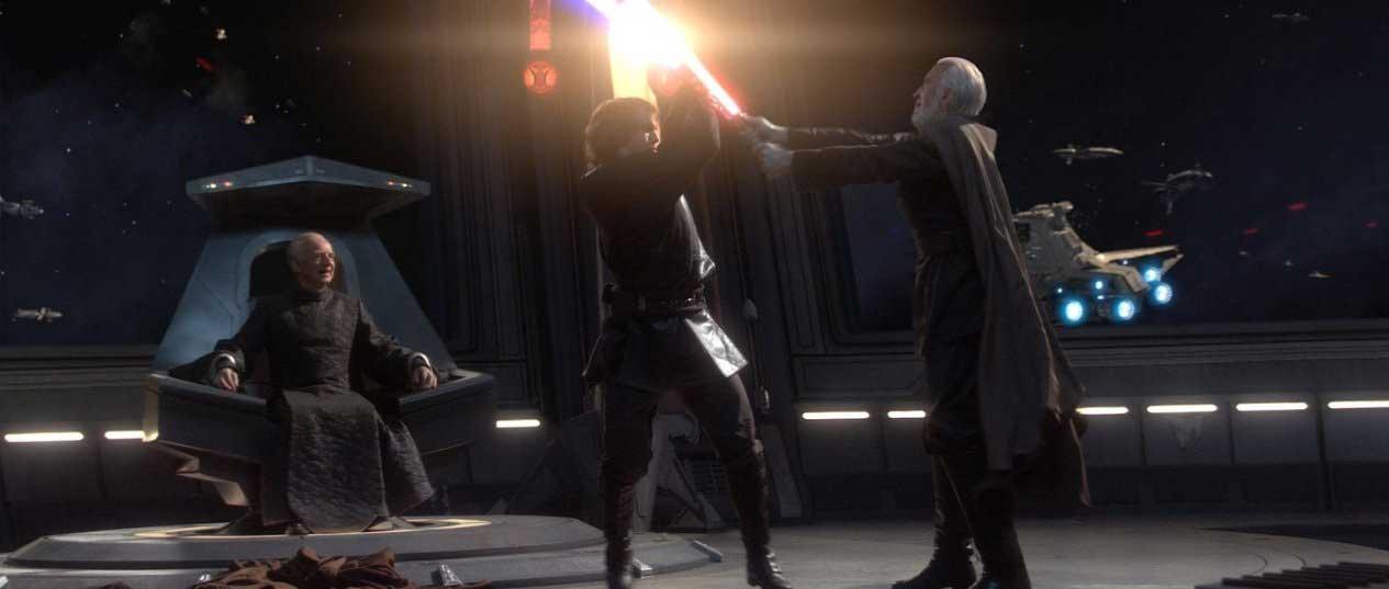 Christopher Lee, Ian McDiarmid and Hayden Christensen in Star Wars-  Episode III - Revenge of the Sith (2005).