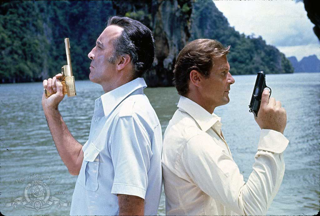 Christopher Lee and Roger Moore in The Man with the Golden Gun (1974).